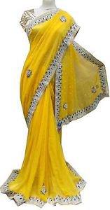 Meri yellow sari 3