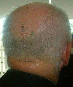 le dessin ton le cheveux comme du gazon