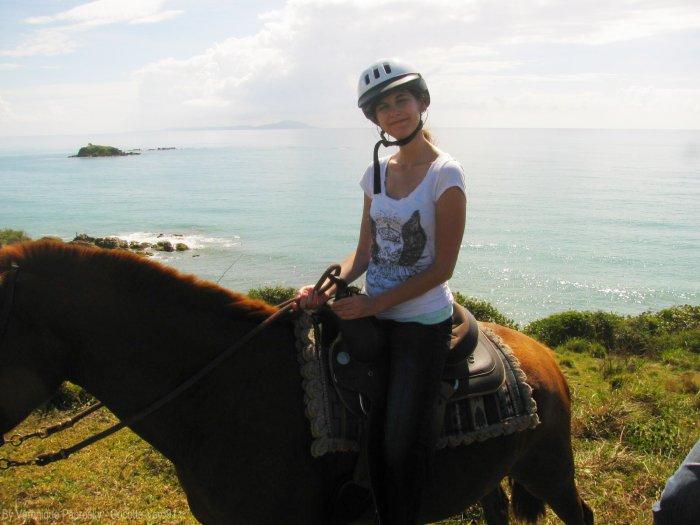 Moi et l'équitation en mars 2014 à Porto Rico