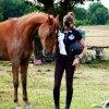 Profil de cavaliere-heureuse