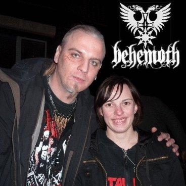 Avec Seth (guitariste de Behemoth) =D