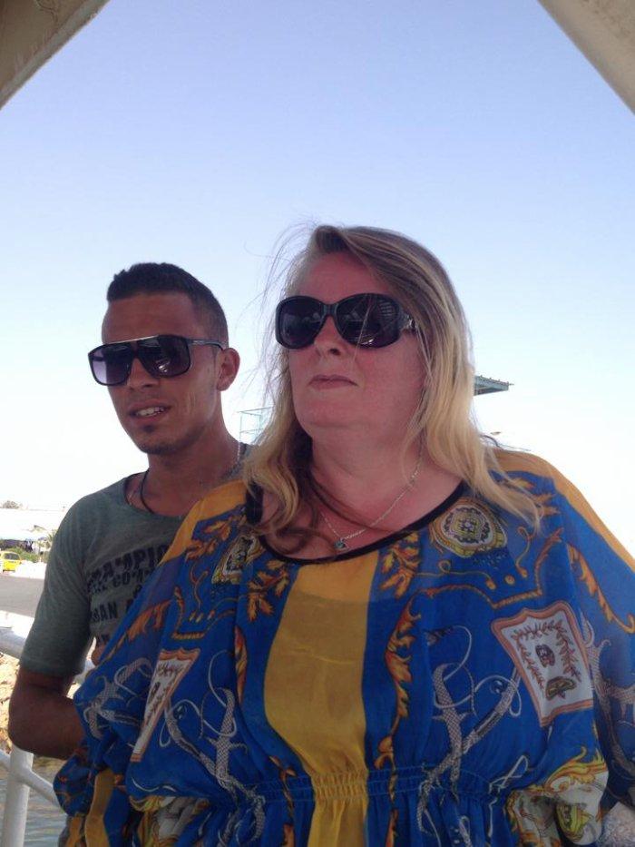 Moi avec le cousin de mon mari Haithem