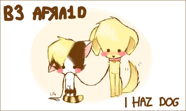 He haz dog