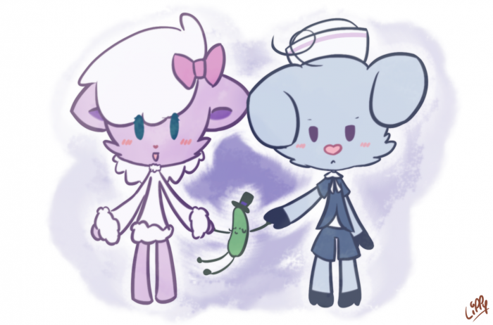 Lammy & Truffles (+ Mr Pickels ;P)