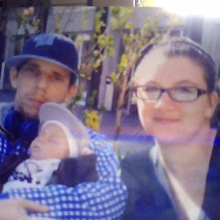 mon homme, notre fils et moi !