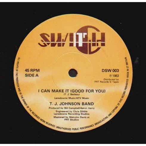 T.J Johnson Band- I Can Make It ( Good For You)