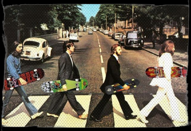 BEATLES SKATE again ON ABBEY ROAD !