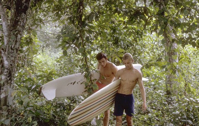 Robert August & Mike Hynson during 'Endless Summer' ~ 1963