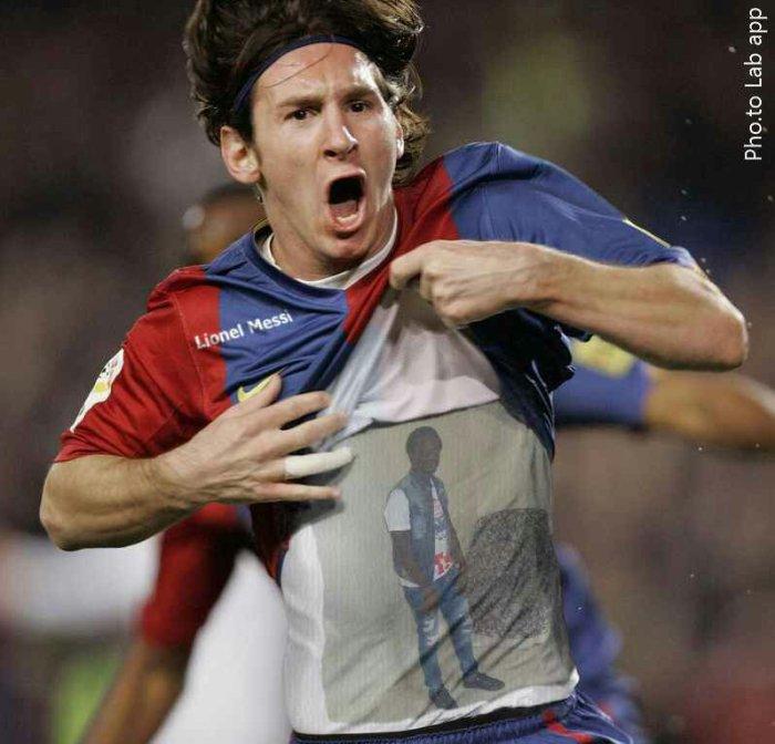 Messi tiene amor de Mamady en su corazón.