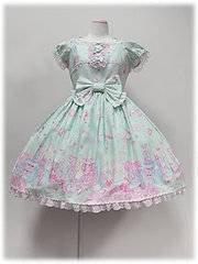 Dreamy doll house Angelic Pretty en Lilas , Menthe , Rose