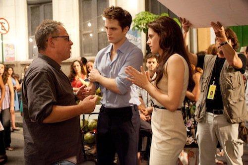 Kristen, Robert et Bill Condon à Rio
