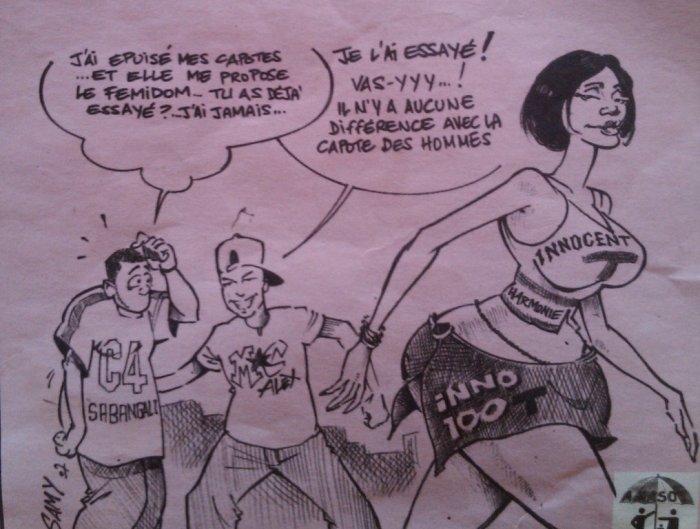 Mac caricaturé par 1 journal satirique du Tchad