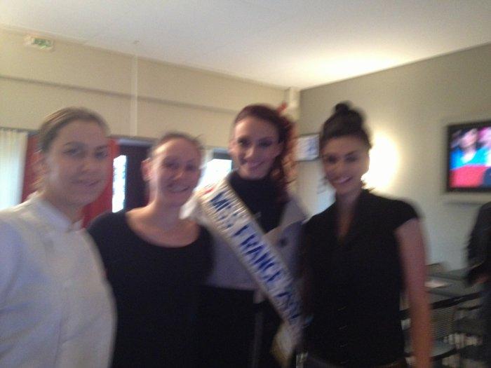 Avec Miss France 2012