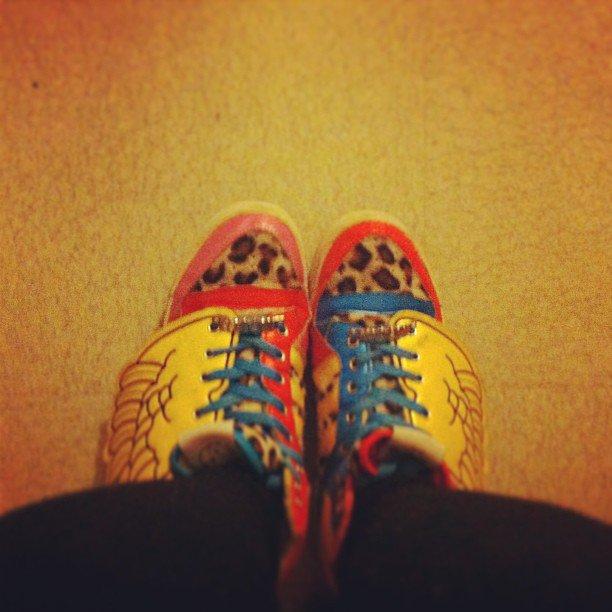 #instanight #instamoment #paris #shoes #adidas #jeremyscott #2ne1 #iphonesia #me #cheetah #leopard