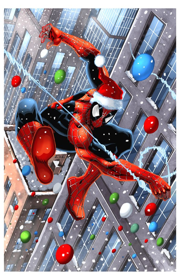"Spider-Man says ""Marry Christmas!"""