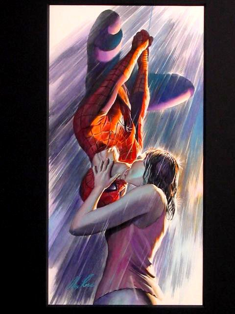 Spider-Man and Mary Jane Kiss (Spider-Man 2002 Movie ...