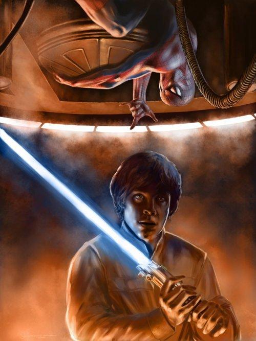 Spider-Man VS Luke Skywalker