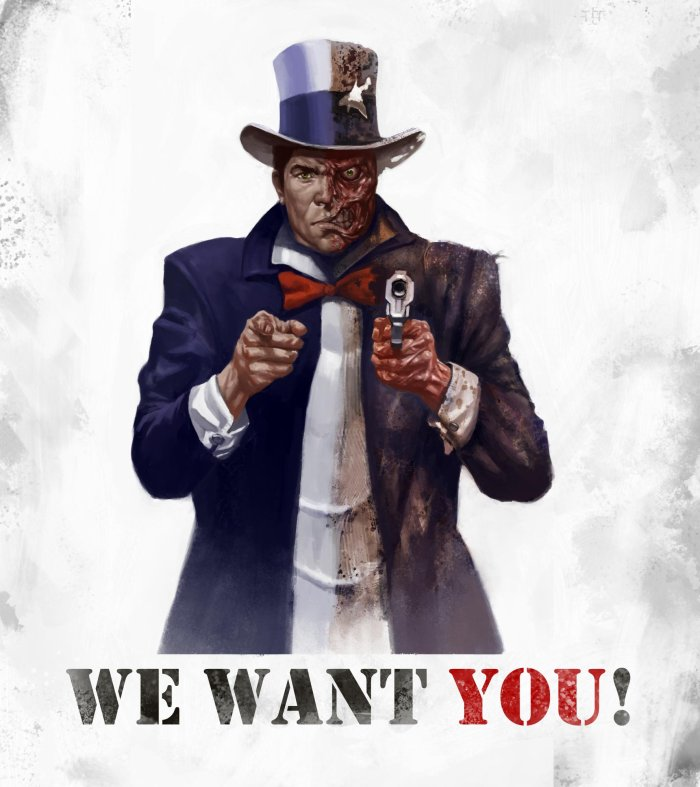 We want you for the Harvey army