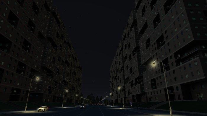 Des immeubles de nuit