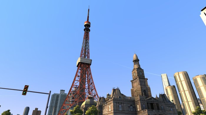 La tour de Tokyo de jour