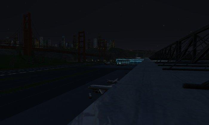 L'aéroport, de nuit