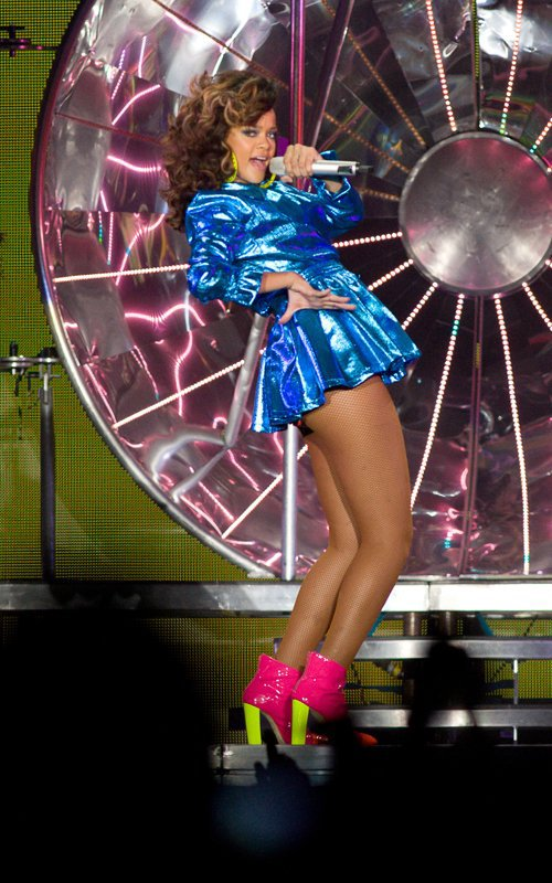 Rihanna a assuré sur la scène de l'Odyssey Arena et aurait c
