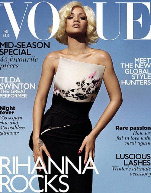 Rihanna sexy en blonde pour l'édition britanique du  magazin