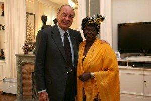 Wangari et Jacques Chirac