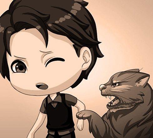 billy e il suo gatto