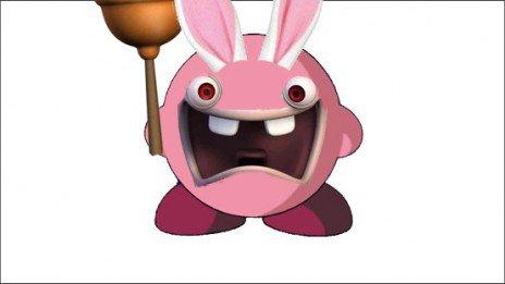 Kirby a avalé un lapin crétin !