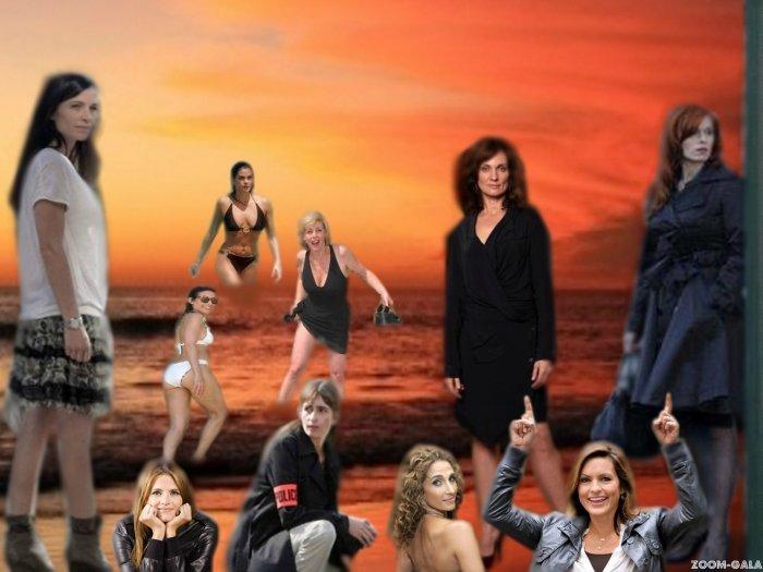 Les filles à la plage