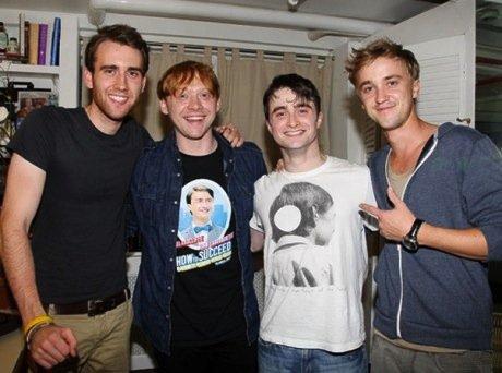 Matthew Lewis; Rupert Grint; Daniel Radcliffe; Tom Felton