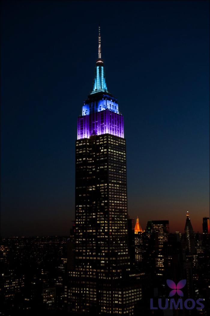 L'Empire State Building aux couleurs de Lumos le 09/04/15
