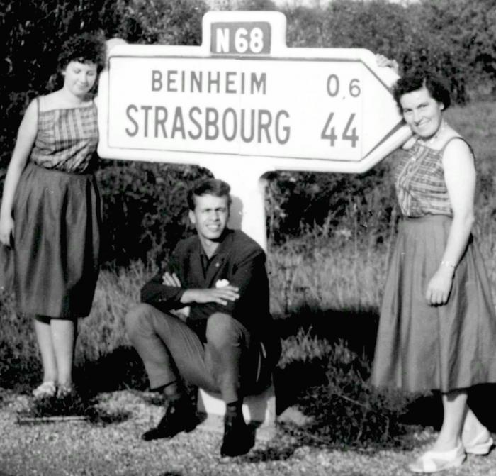 Mit Tante R. und Kusine E. im Elsass