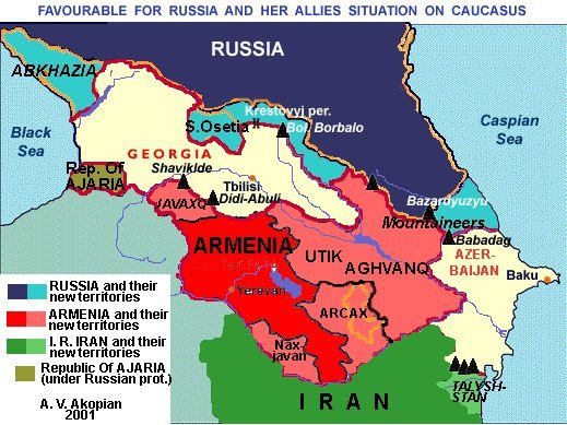 armenien carte caucasus kavkaz karta armenia region karabakh