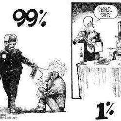 Les 99%; les 1%