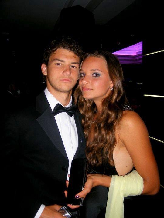 Grigor er Romana à la player party de wimbledon 2008
