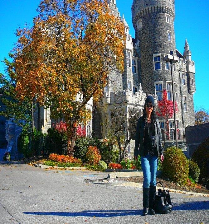 moi et le château - Casa Loma au Canada