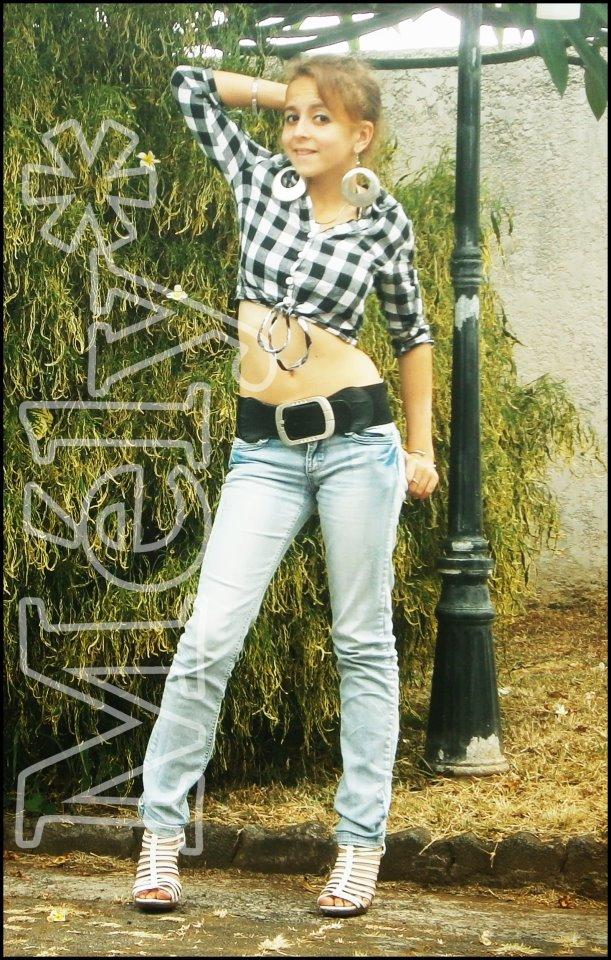 chemise a careau jean s top