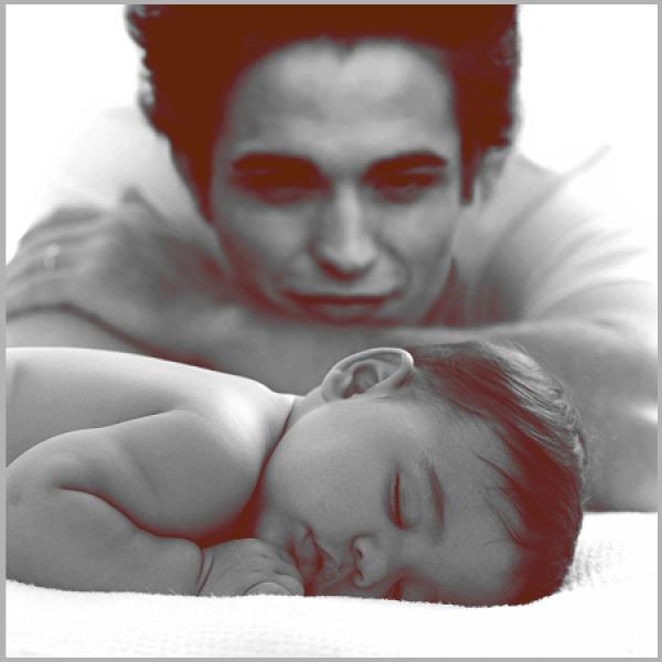 Bébé Renesmée et son beau papa Edward