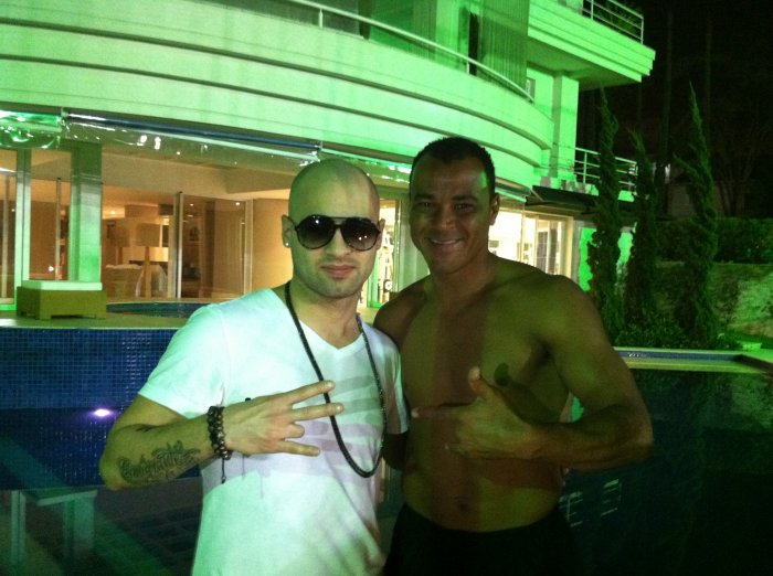 with CAFU famous soccer player in Brazil