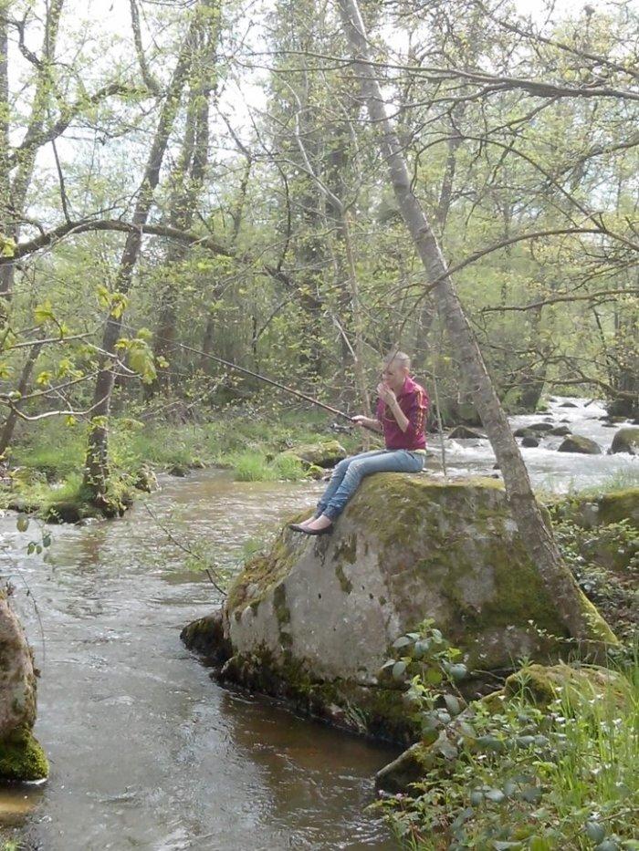 Moi en train de pêcher ^^