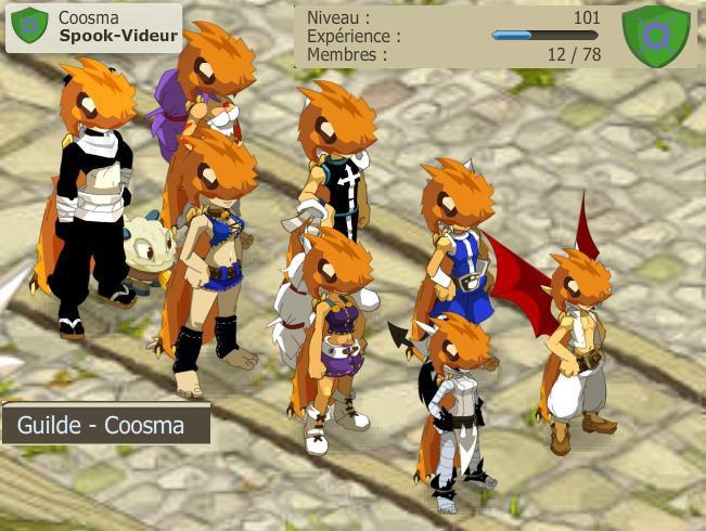 Team niveau 40 full prespic début dans Coosma
