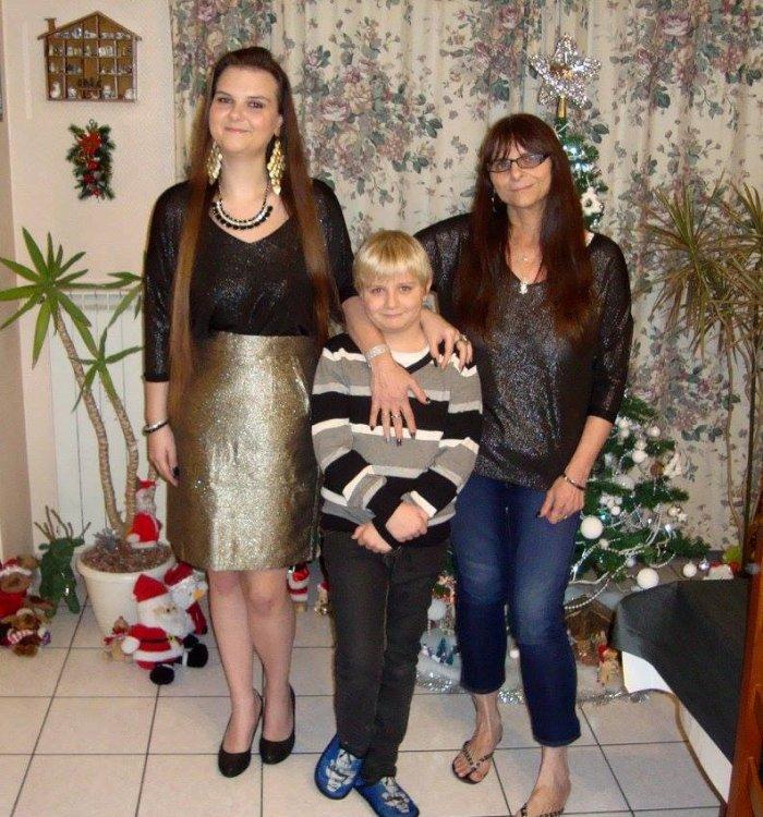 Avec ma maman et mon petit frère ❤️