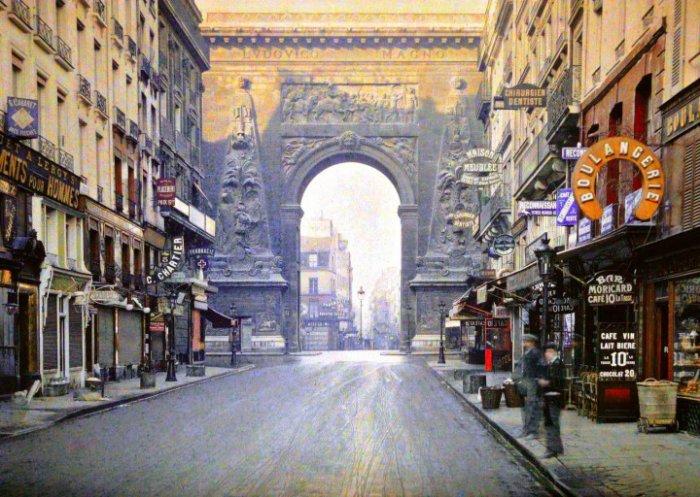 Ancienne photographie couleur de Paris.