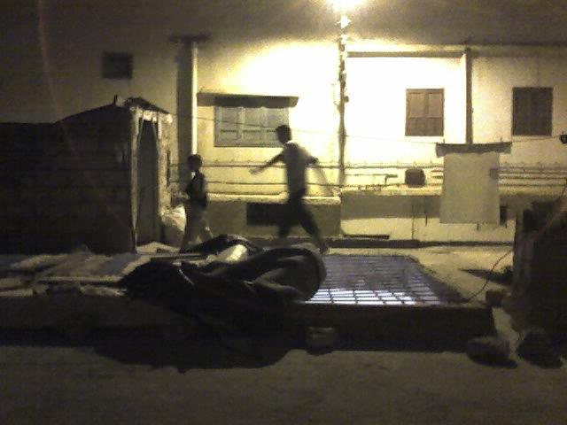 sur le toit de la maison à Inzegane prés de Agadir au Maroc.