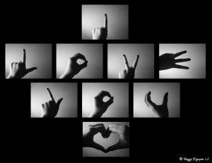 J'ai appris à dire ''I love you'' en language des signes!