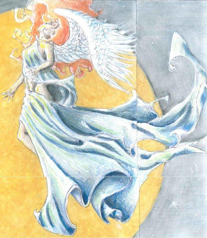 Golden Moon Angel
