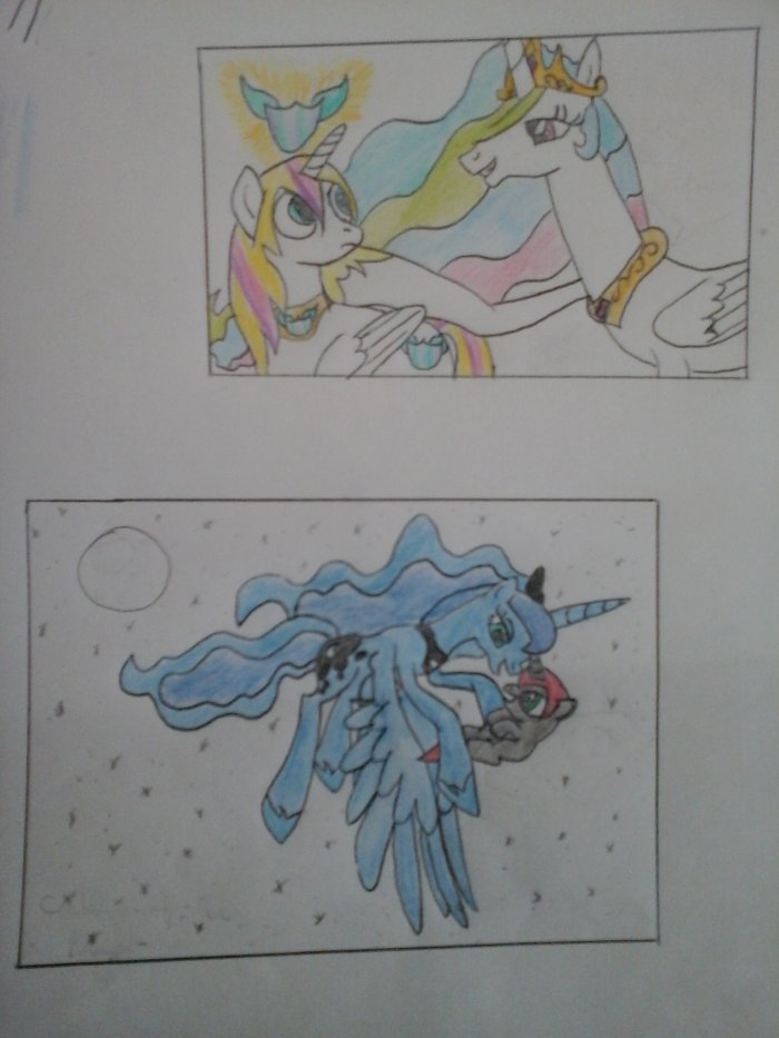 Célestia et Yuki - Luna et une jeune licorne