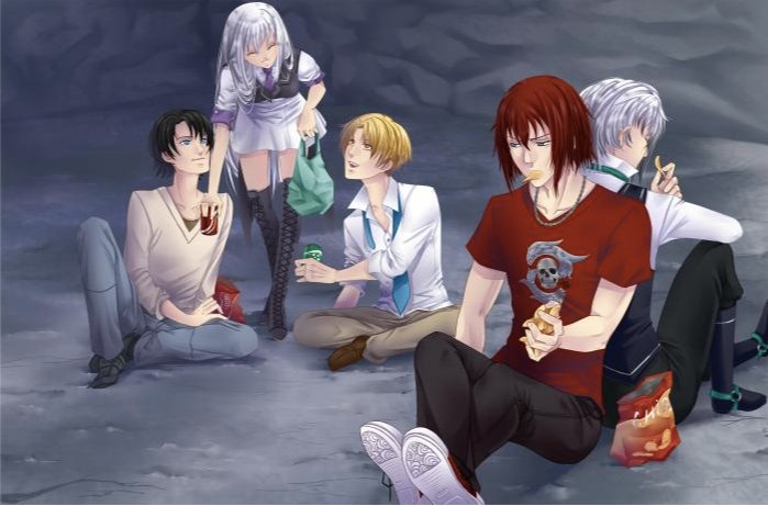 Armin, Rosalya, Nathaniel, Castiel et Lysandre
